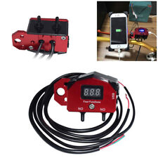 CNC Aluminum USB Motorcycle Fast Charger Dual Toggle Switch Volt Meter Bracket