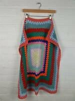 Handmade Multicolour Crochet Blanket Size 33 x 33 inches