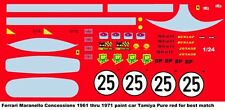#25 Ferrari Maranello Concessions 1961-71 1/24th 1/25th  Waterslide Decals