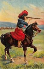 COWGIRL Woman On Horse Shooting Rifle Western Art 1908 Vintage Postcard