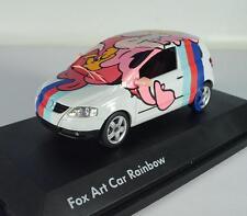Schuco 1/43 Volkswagen VW Fox Art Car Rainbow OVP #1154