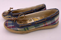 SPERRY TOP-SIDER SLIP-ON BOAT SHOES PLAID FLATS WOMEN'S SIZE 7