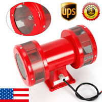 MS-590 Motor Driven Air Raid Siren Metal Horn Alarm Continuous AC110V US STOCK