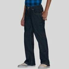 Faded Glory Husky Boys' Elastic Sides/Back Waist Bootcut Denim Jeans 8 Husky