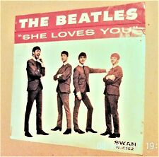 Original Beatles 45 She Loves You, I'll get You and Pictured Sleeve - Very Good