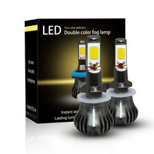 2x 880 881 H27 80W LED Fog Light Car Driving Lamp DRL Yellow Amber 3000K Bulb DC