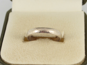 Wedding Band Sterling Silver Ladies Stunning Size P 1/4 925 1.8g Hs99