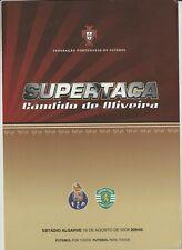 Orig.PRG   Portugal Supercup 2008  FINALE  SPORTING LISSABON - FC PORTO  !!  TOP