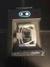 Crankbrothers Mallet 2 All Mountain/enduro Pedal Raw/silver Pedals CHEAPEST NEW!