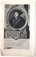 """Eau forte et burin de N. PITAU, d'ap. WERFF, """"Portrait de Cromwell"""", XVIIème"""