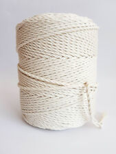 5/32 in cotton cord 4 mm macrame rope 280 m twisted cotton string 306 yard