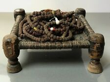 ANTIQUE/VINTAGE INDIAN, HINDU/BUDDHIST. GENUINE RUDRAKSHA MALA NECKLACE, NEPAL.