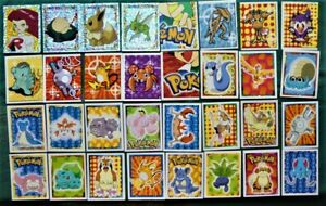 Lot of 30+ Merlin Pokemon Stickers 1999 - Includes 4 Shiny - Mostly Very Good