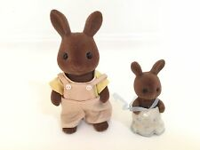 Vintage Japan Sylvanian Families (Calico Critters US)Papa Bunny & Young Daughter