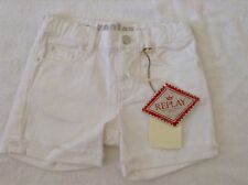 BNWT 100% Auth Replay Baby Girl White Lovely Summer Holiday Shorts. 24 Mts 2 yrs
