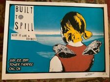 BUILT TO SPILL PRISON ART CONCERT POSTER TOWER THEATER OKLAHOMA OKC SCREEN PRINT