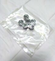 """Lot of 6 New KMS SSR4DR-6 Radial Ball Bearings, 316 Stainless, ID 1/4"""", OD 5/8"""""""