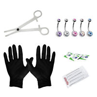 15-Packs Piercing Jewelry Needles Kit Body Piercing Belly Button Rings Sets