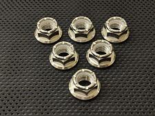 Yamaha Fazer 1000 Titanium Locking Rear Sprocket Nuts Ti Nyloc Flange Nuts