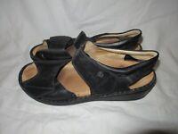 Women's Finn Comfort Gomera Lake Comfort Black Sandals Shoes Sz 42 / US 11 -11.5
