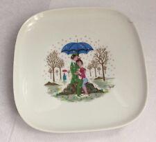 Vintage Rosenthal Raymond Peynet Lovers Square Plate Dish