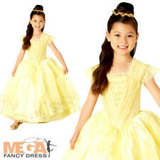 Premium Beauty and the Beast Belle Girls Disney Princess Book Day Kids Costume