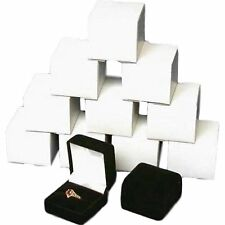 1 X 12 Black Flocked Ring Gift Boxes Jewelry Displays