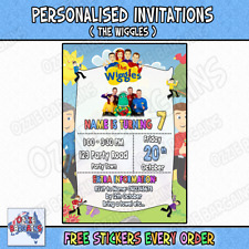 Personalised The Wiggles Birthday Invitations Party Invites