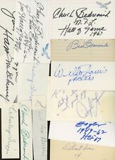 LOT (13) Football Signed Index Cards AUTO Autograph #1