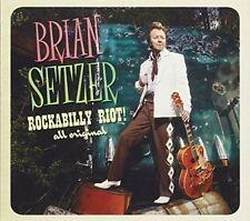 """BRIAN SETZER """"ROCKABILLY RIOT! ALL ORIGINAL""""  Very Good Used CD -rarely played"""