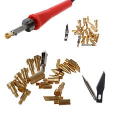 22Pcs Soldering Iron Wood Burning Tips Pen Stencil Pyrography Working Carving