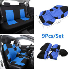 9Pcs/Set Car Interior Seat Cover Front+Rear Seat Cushion Protector Breathable