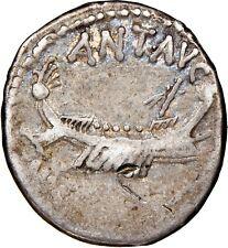 Marc Antony - NGC Ch F 4/5 3/5 - Denarius, Mint Moving with M.Antony  32-31 153