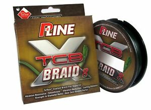 P-Line TCB 8 Carrier 150-Yard Braided Fishing Line, Green, 30-Pound