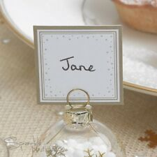 Gold & White Snowflake PLACE NAME CARDS-Christmas Party-Use with Bauble Holders