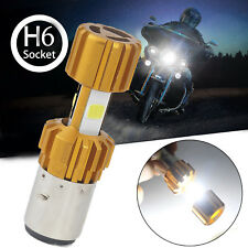 H6 BA20D DC 12V 18W 6000K COB LED Motorcycle Hi/Lo Beam Headlight Bulb White