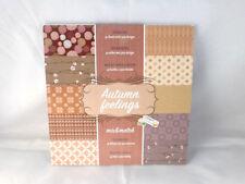Desingblock  Autumn Feelings  30 Blatt  Hintergrundpapier  Scrapbooking Basteln