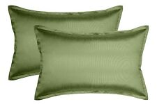 Aiking Home 2 Pieces Solid Faux Silk Euro Shams, Pillow Covers Multi-Size/Color