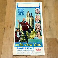 UN RE A NEW YORK locandina poster Charles Chaplin A King in Dawn Addams AJ21
