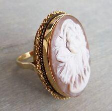 """UNIKAT Prächtiger Gemme Kamee Ring """"Die drei Grazien"""" aus 750 Gold (gestempelt)"""