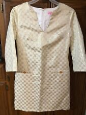 Lilly Pulitzer Dress Size 2 Cream & Gold Womens