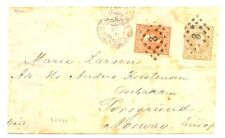 DUTCH INDIES NED INDIE INDONESIA 1888 CV TO NORWAY ( VERY RARE ) -FAULTS