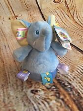 Mary Meyer TAGGIES Baby Wobble Elephant Plush Chime Ball NWT