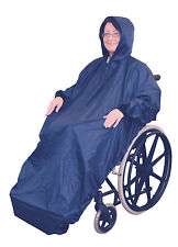 WHEELCHAIR RAIN COVER WITH SLEEVES - WATERPROOF WHEELCHAIR MAC - DISABILITY AIDS