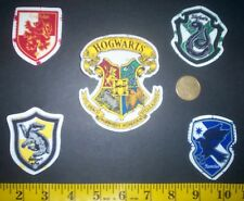 New! Harry Potter Hogwarts Houses IRON-ONS Fabric APPLIQUES IRON-ON