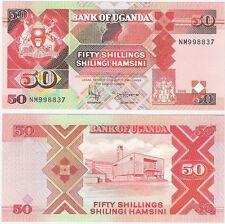 Uganda 50 Shillings 1998 P-30c UNC Uncirculated Banknote