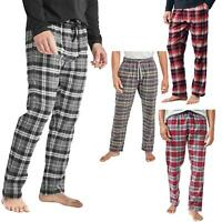 New Mens Check Brushed Woven Flannel Pyjama Bottoms 100% Cotton PJ's Trousers