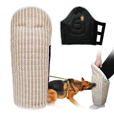 Jute Dog Bite Arm Leg Sleeve Pet Dog Training Bite Tug Soft Inner Padded for K9