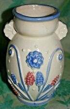 Vase Pink and Blue Flowers and Wheat Made in Japan over 5 inches tall