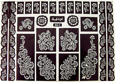 Self Adhesive Decal Stencils For Henna Temporary Tattoo (Large Size)